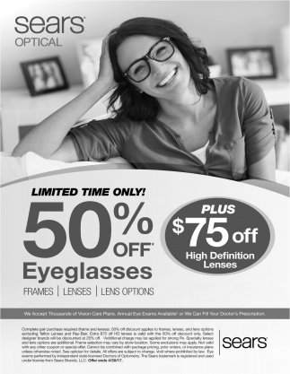 LIMITED TIME ONLY 50% OFF Eyeglasses
