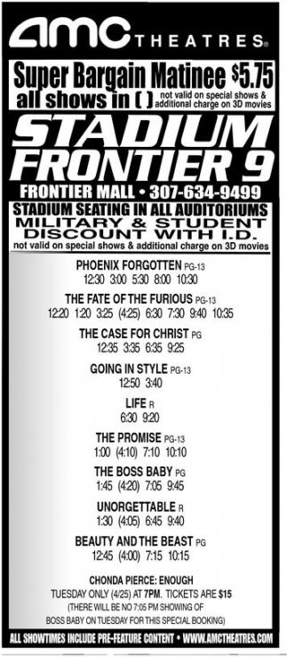 Super Bargain Matinee, AMC Theatres, Cheyenne, WY