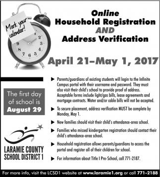 Online Household Registration and Address Verification