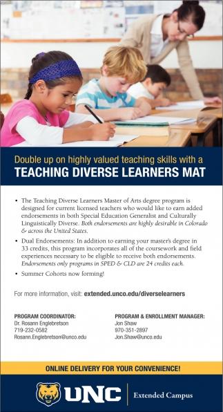 Teaching Diverse Learners Mat