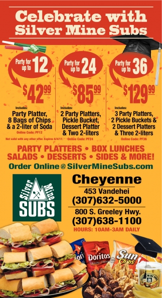 Celebrate with Silver Mine Subs