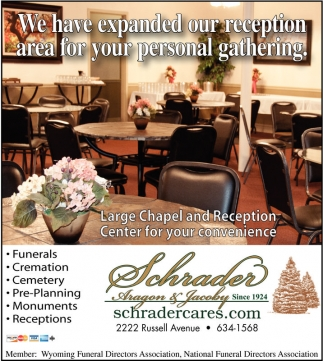 We have expanded our reception are for your personal gathering