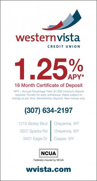 16 Month Certificate of Deposit