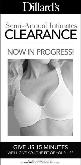 Semi-Annual Intimates Clearance