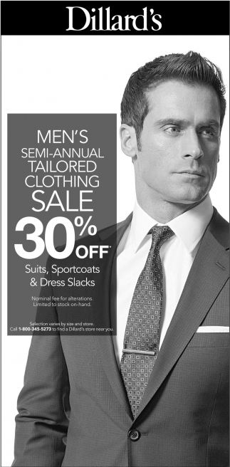 Semi-Annual Tailored Clothing Sale