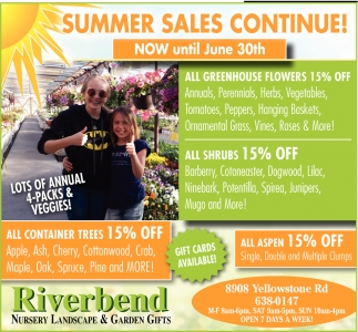 Summer Sales Continue!