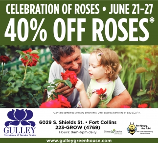 40% Off Roses*