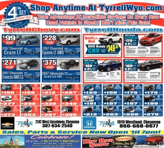 Shop Anytime at TyrrellWyo