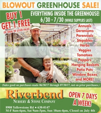 Blowout Greenhouse Sale!