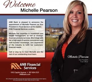 Welcome Michelle Pearson