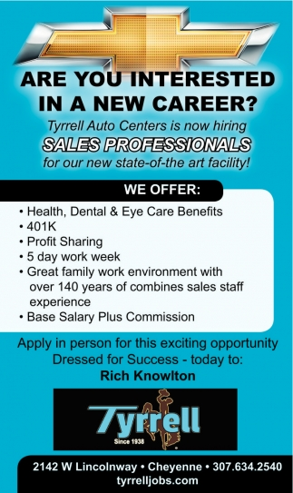 Are you interested in a new career?