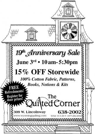 19th Anniversary Sale
