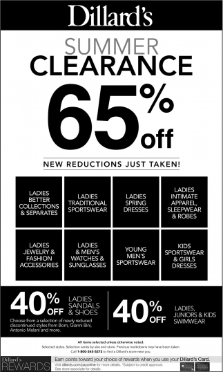 Summer Clearance 65% OFF
