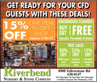 Get ready for your CFD Guests with these deals