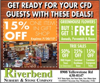 Get ready for your CFD Guests with these deals!