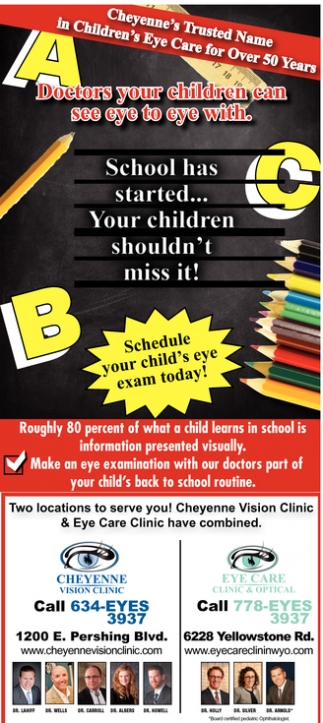 Cheyenne's Trusted Name in Children's Eye Care for Over 50 Years