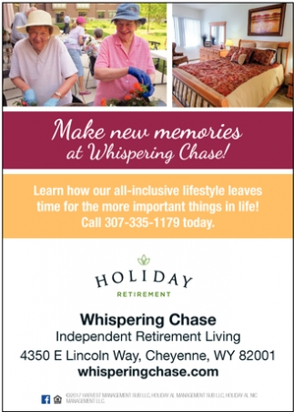 Make new memories at Whispering Chase