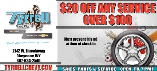 $20 OFF Any Service Over $100