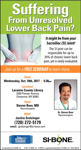 Suffering From Unresolved Lower Back Pain?