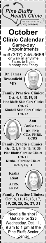 October Clinic Calendar