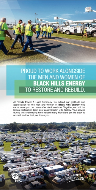 Proud to work alongside the men and women of Black Hills Energy