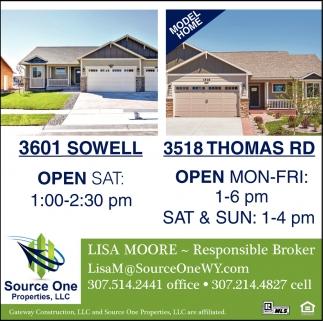 3601 Sowell  3518 Thomas RD