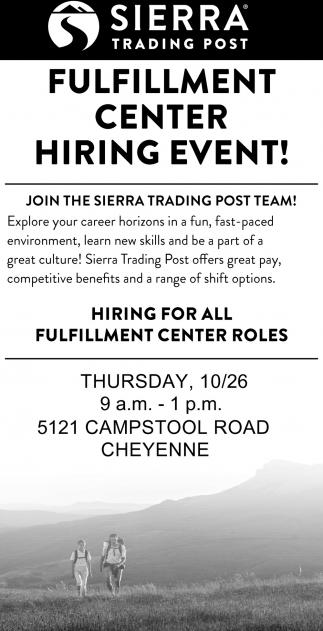 Fulfillment Center Hiring Event!