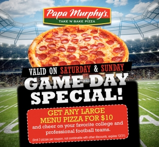 Game Day Special!