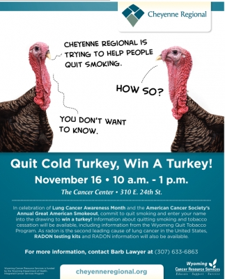 Quit Cold Turkey, Win A Turkey