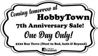 HobbyTown 7th Anniversary Sale