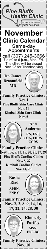 November Clinic Calendar