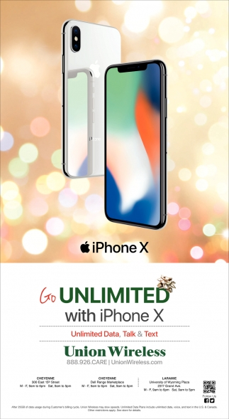 Unlimited with iPhone X