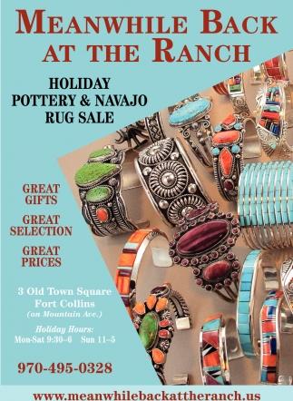 Holiday Pottery & Navajo Rug Sale