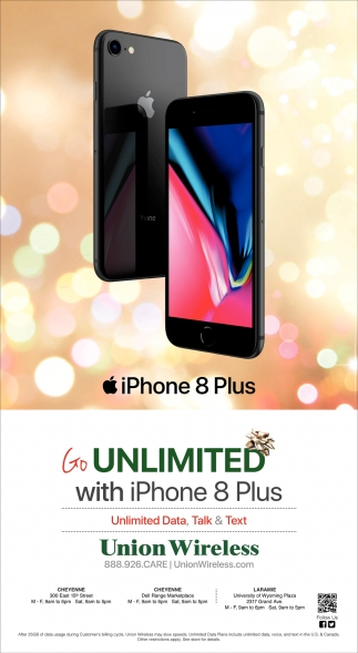Go Unlimited with iPhone 8 Plus