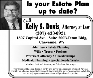 Call Kelly S. Davis, Attorney at Law