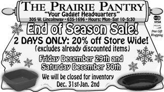 End Of The Season Sale