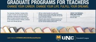 Graduate Programs for Teachers