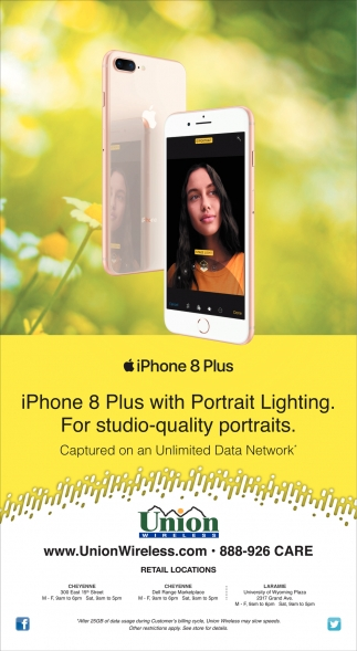 iPhone 8 Plus with Portrait Lighting.