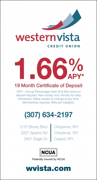 1.66% APY 19 Month Certificate of Deposit