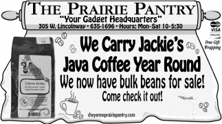 We Carry Jackie's Java Coffe Year Round
