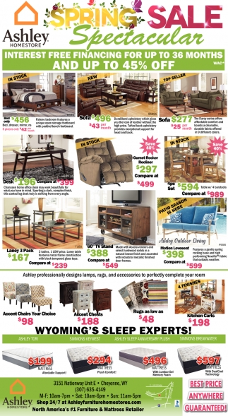 Spring Sale Spectacular Ashley Homestore Cheyenne Wy