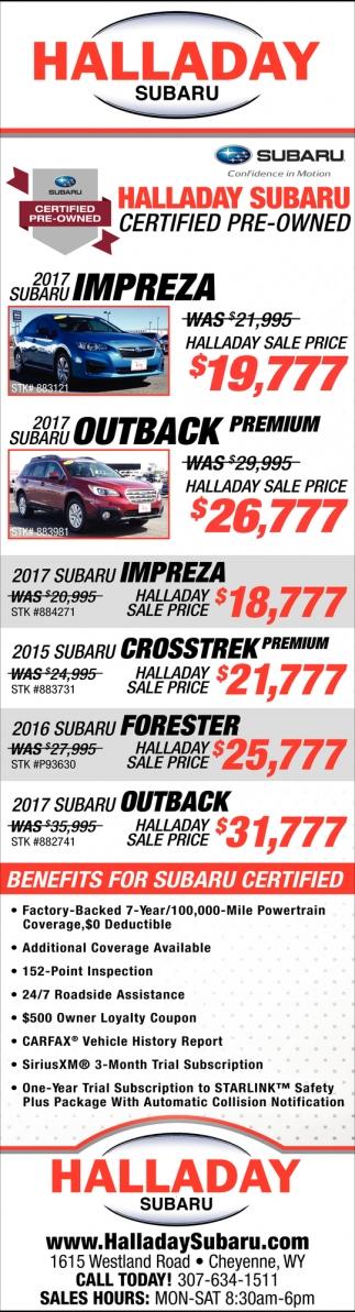 Halladay Subaru