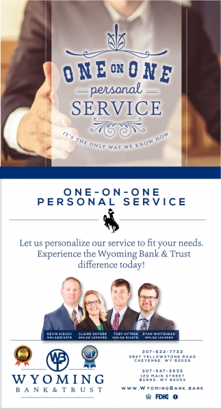 Let Us Personalize Our Service to Fit Your Needs