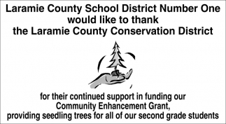 Thank Laramie County Conservation District
