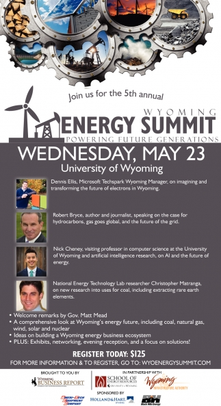 Join Us for the 5th Annual Wyoming Energy Summit