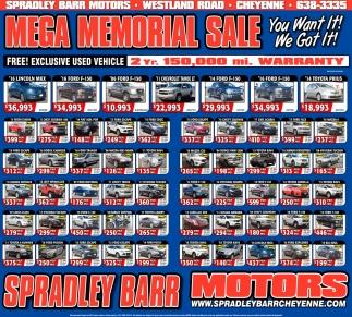 Mega Memorial Sale