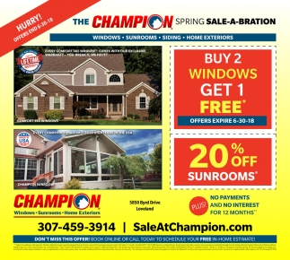 The Champion Spring Sale-A-Bration