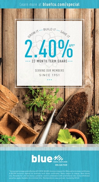 2.40% APY 22 Month Term Share