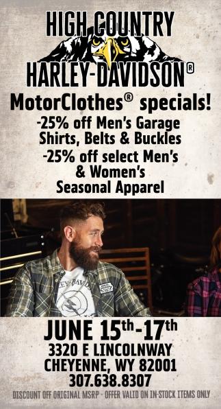 MotorClothes Specials!