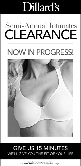 Semi-Annual Intimates Clearace